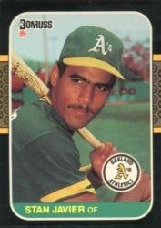 Amazoncom 1987 Donruss Baseball Card 590 Stan Javier Near