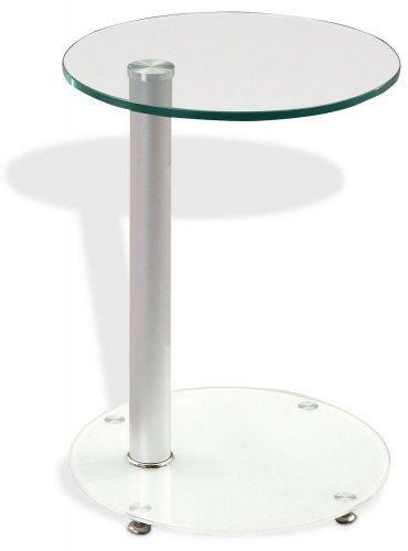Beistelltisch aus Glas rund Butler 1