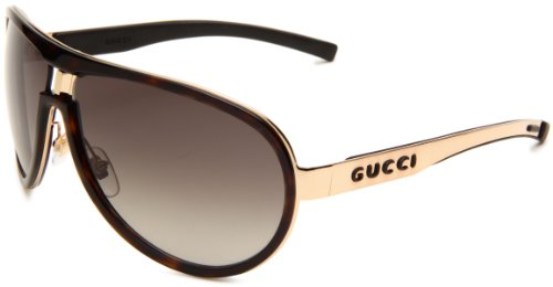 Gucci 1566/S Aviator Sunglasses,Havana Frame/Brown & Grey Gradient Lens,One - Gucci Aviators Womens