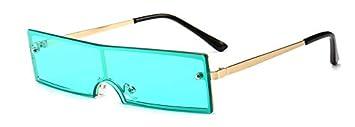 CQYYDD Gafas de Sol rectangulares estrechas pequeñas Hombres ...
