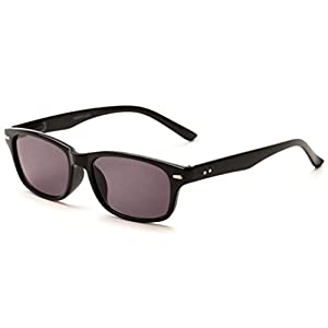 Readers.com The Key West Sun Reader +2.00 Black with Smoke Classic Sunglass for Men & Women UV-Protected Retro Square Reading Glasses