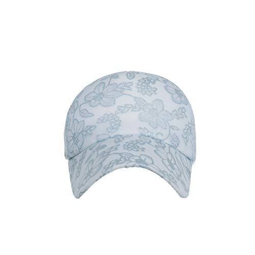 Benficial Unisex Classic Lace Printed Baseball Cap Sun Hat Adjustable Plain Caps Cotton Blue