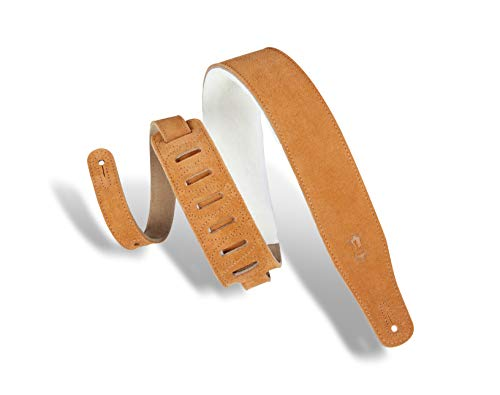 (Levy's Leathers Suede Guitar Strap with Sheepskin Padding; Honey)