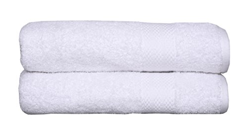 100% cotton towel set, 2 piece Bath Sheet Set, Turkish Towels, Quick Dry, Super Soft, Absorbent, machine washable, 35″x70″ (white, 2 pc set)