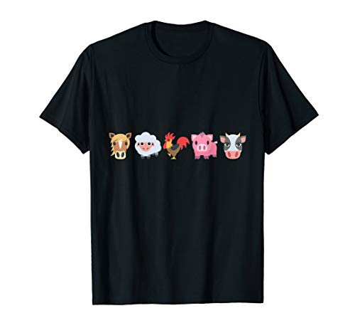 Farm Animal Horse Sheep Rooster Pig Cow T-Shirt