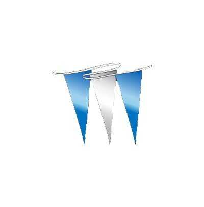 Brilliant Metallic Pennants Streamers 60' String (Blue/Silver)]()