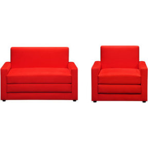 Walmart.com: Sleeper Chair and Loveseat Set, Fearless Red: Furniture