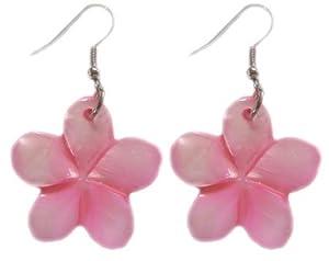 Amazon hawaiian jewelry pink plumeria flower shell earrings hawaiian jewelry pink plumeria flower shell earrings mightylinksfo Choice Image
