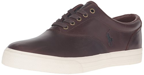 Ralph Lauren Men's Vaughn Fashion Sneaker, Tan/Cream, 10 ...