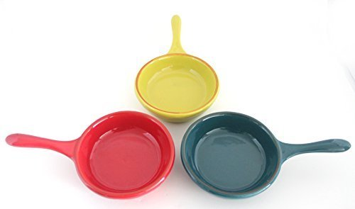 Stoneware Spanish Tapas Serving Dishes Set of 3,Use in Restaurant,Kitchen,Catering-6.7x3.9x1.95in (Tapas Dish Set)
