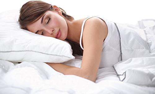 Devi Bedding Parure de lit 800 fils Motif à rayures 100 % coton égyptien doux, toutes tailles et toutes les couleurs. Moderne Short Queen gris