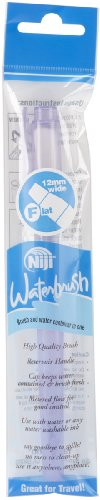 12mm Blue Ink - Yasutomo Niji Water Brush with 12mm Tip, Flat