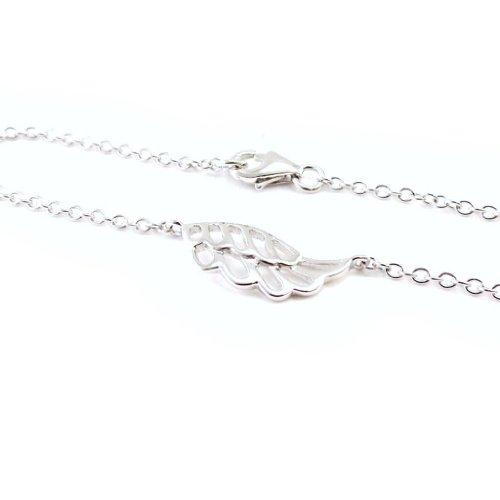 """Les Trésors De Lily [G2770] - Bracelet Argent """"Aile Nature"""""""