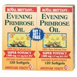 (Royal Brittany Evening Primrose Oil 1300mg Two (2) Twin Packs)