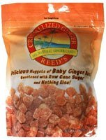 Crystallized Ginger Chews 16oz Bag pack of 4 by Reed's Inc.