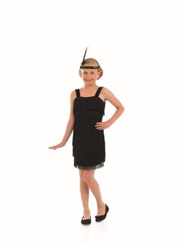1920s Charleston Flapper Girls Childs Fancy Dress Black - S 112cms (Flapper Girls 1920)