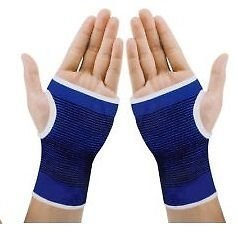 Glamocracy Palm Wrist Glove Both Hand Grip Support Protector Brace Sleeve Support (Free Size, Blue)