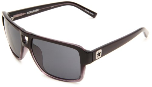 Converse Backstage Mens Reel Aviator SunglassesBlack Gradient FrameGrey LensOne Size