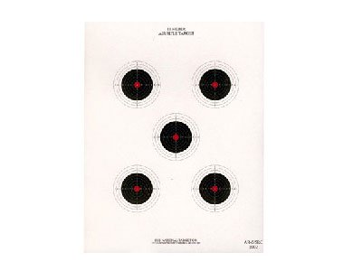 National Target 5 Bull Red Center Air Rifle Target