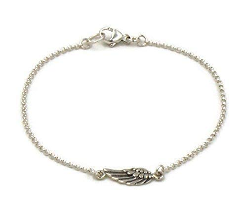 Amazon.com  Silver Angel Wing Bracelet c4e6cdc11
