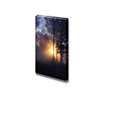 Canvas Prints Wall Art - Beautiful Scenery/Landscape Stunning Foggy Nature Beauty | Modern Wall Decor/Home Decoration Stretched Gallery Canvas Wrap Giclee Print & Ready to Hang - 36