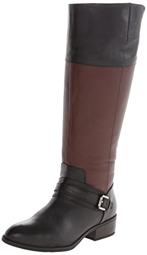 Ralph Lauren Women's Maritza Wide-Calf Riding Boot - Blac...