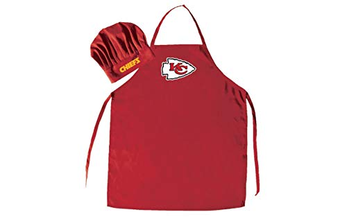 NFL Kansas City Chiefs Chef Hat and Apron Set, Red, One Size