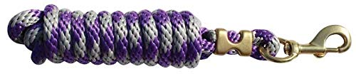 Professional's Choice Poly Cotton Lead Rope Charcoal/Purple