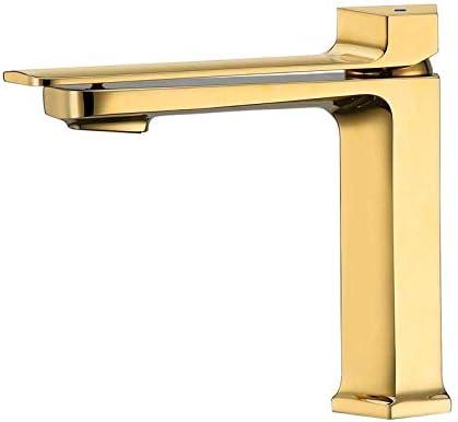 BXU-BG 洗面所のための浴室タップ絶妙な流域ミキサータップとバスルームのシンクシングルホットとコールド盆地浴室カウンター盆地チタンメッキゴールド盆地 - チタン