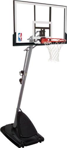 Spalding NBA Gold Portable Basketball Hoop, Transparent, 3001651010948