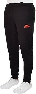 asics - Pantalones de chándal Hombre - Negro - XS: Amazon.es ...