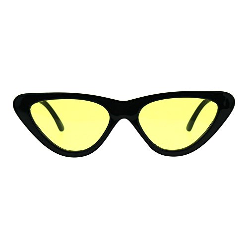Pop Color Retro Vintage Style Cat Eye Womens Plastic Sunglasses - 1920s Style Sunglasses
