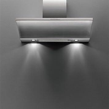 Falmec Logo De pared Acero inoxidable 600m³/h - Campana (600 m³/h, Canalizado, 55 cm, 55 cm, De pared, Acero inoxidable): Amazon.es: Hogar