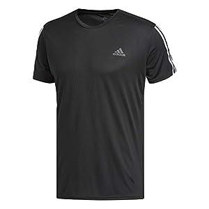 Adidas Run 3S Negro | Camiseta Hombre