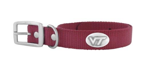 ZEP-PRO Maroon Nylon Concho Pet Collar, Virginia Tech Hokies, Medium