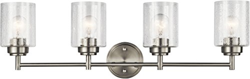 (Kichler Lighting 45887NI Four Light Bath from The Winslow Collection, Brushed Nickel)