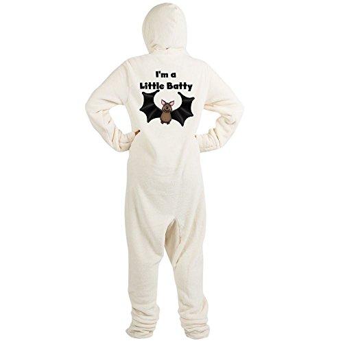 CafePress - ALITTLEBATTYHALLOWEEN.Png - Novelty Footed Pajamas, Funny Adult One-Piece PJ Sleepwear Creme]()