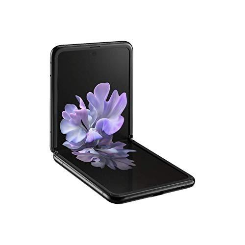 Samsung Galaxy Z Flip SM-F700F/DS Dual-SIM 256GB (GSM Only   No CDMA) Factory Unlocked Android 4G/LTE Smartphone - International Version (Mirror Black) (Renewed)