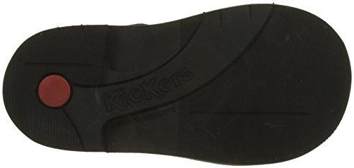 Kickers Unisex-Kinder Colz Combat Boots Gris (Gris Marine Bleu)
