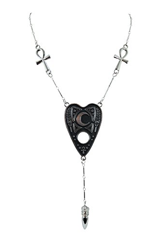 Restyle Goth Ouija Spirit Board Necklace with Ankh, Cross, Karnak and Pendulum ()