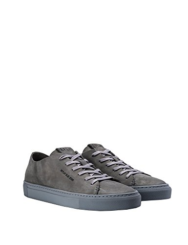 REPLAY Mens Oregon Lace Up Leather Mens Grey Sneakers grigio