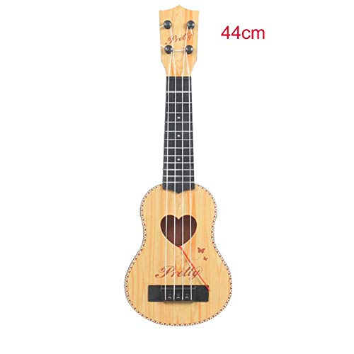 Kid's Mini Ukulele with Fiddle Flake,Four-String Guitar Early Education Music Toy for 1-6 Years Old Boys and Girls