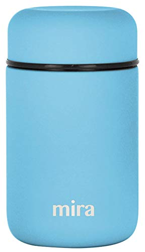 MIRA Lunch, Food Jar | Vacuum Insulated Stainless Steel Lunch Thermos | 13.5 oz | Sky (Thermal Hot Food Container For)