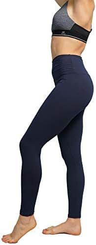 Women's High Waisted Leggings 1/2 Pack- Workout Yoga Pants Running Tummy Control Leggings - Opaque Soft & Slim