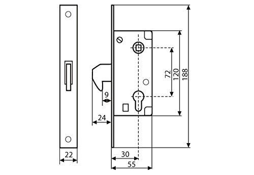 KOTARBAU 72//30 Cerradura de gancho para puerta corredera resistente a la corrosi/ón galvanizada