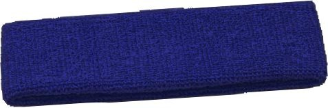 Terry Cloth Headband Various Colors Sweatband (Navy)