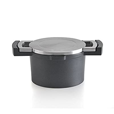 Neo 1.9 qt. Cast Aluminum and Nonstick Casserole Pot with Stainless Steel Lid and High Temperature Silicone Coating