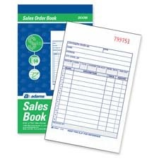Adams Business Forms : Sales Order Book, 3-Part, 2-Part, 5-9/16\