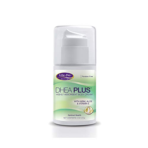 Life-flo DHEA Plus Cream | Fragrance Free | 15 mg of Natural DHEA Per Press of the Pump | Includes Aloe Vera, MSM & Vitamin E for Skin | 2 oz