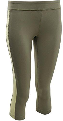 (Under Armour Women's UA Street Sleek Capri - Linen Green XL)